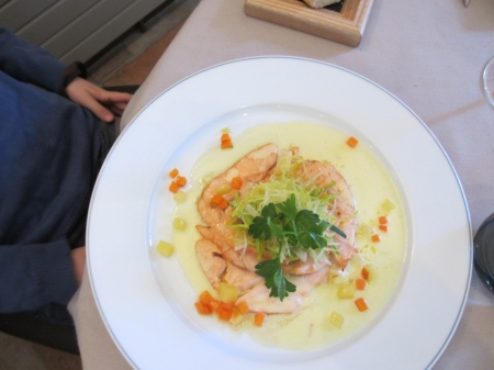 "Salmon with a twist: At ""La Chaumiére"" in Aubigny you learn why France is a very special country."