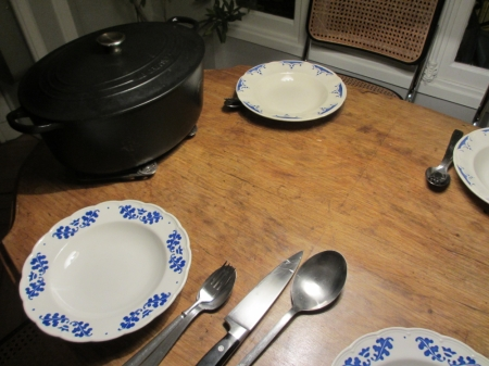 See the black iron cast casserole, it's my favorite.