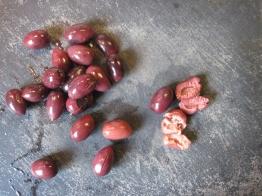 Start with some Kalamata olives.