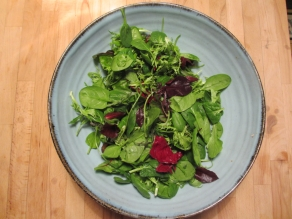 A salad called Mesclun.